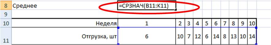 среднеквадратическое отклонение формула +в excel