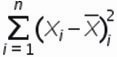 сумма квадратов отклонений относительного среднего